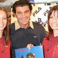 Miss Südtirol 2003 Katrin Morandell mit Skistar Alberto Tomba
